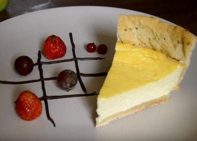 Nejjemnější tvarohový koláč s mascarpone: vaříme podle receptu s fotografiemi krok za krokem.
