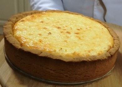 Připravujeme lahodný tvarohový koláč s tvarohem s pečivem podle postupného návodu s fotografií.