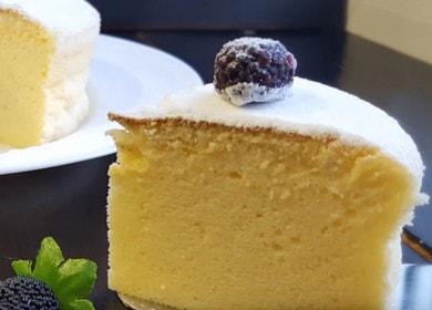 Připravujeme nejchutnější japonský tvarohový koláč podle postupného receptu s fotografiemi a videi.