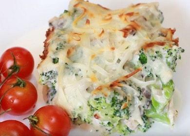 Готвим броколи в кремообразен сос според стъпка по стъпка рецепта със снимка.