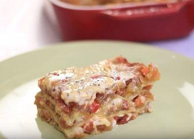 Апетитна вегетарианска лазаня: приготвяме по стъпка по стъпка рецепта със снимка.
