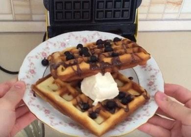 Vaření lahodných vídeňských oplatek: recept na elektrickou oplatku s fotografiemi a videy.
