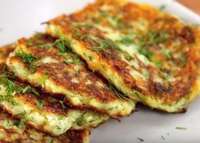 приготвяме леки палачинки от тиквички по стъпка по стъпка рецепта със снимка.