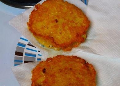 Готвене на вкусни палачинки със сирене по стъпка по стъпка рецепта със снимка.