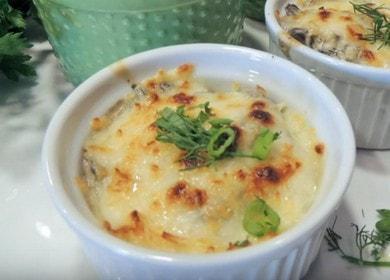 Приготвяме ароматно жулиени с гъби по стъпка по стъпка рецепта със снимка.