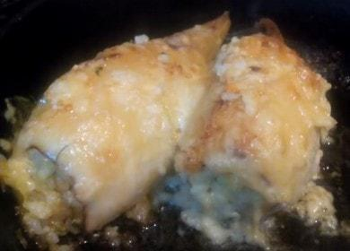 Vaříme lahodné chobotnice plněné rýží, podle receptu krok za krokem s fotografií.