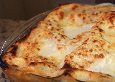 Класическа рецепта за лазаня със сос бешамел: гответе със стъпка по стъпка снимки.
