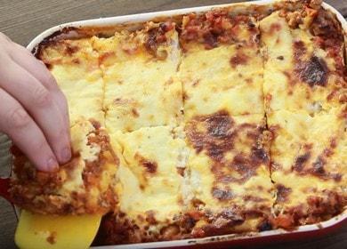 Истинска италианска лазаня: рецепта със стъпка по стъпка снимки.