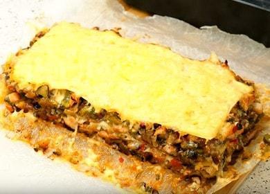 Вкусна лазаня с кайма от питка във фурната: гответе по стъпка по стъпка рецепта със снимка.