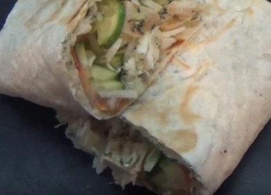 skutečná PP shawarma doma: vaříme podle receptury s fotografií.