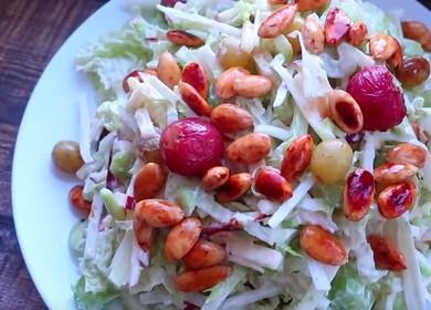 Вкусна рецепта за салата със стъбло от целина: стъпка по стъпка снимки.