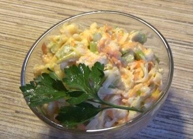 Приготвяме нежна салата с целина по стъпка по стъпка рецепта със снимка.