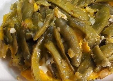 Lahodné zelené fazole s vejcem: vařte podle receptu krok za krokem s fotografií.