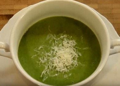 Připravujeme lahodnou polévku čerstvého špenátu podle postupného receptu s fotografií.