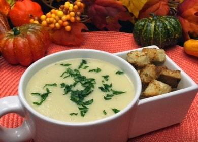 Приготвяме вкусно пюре от целина за супа по стъпка по стъпка рецепта със снимка.