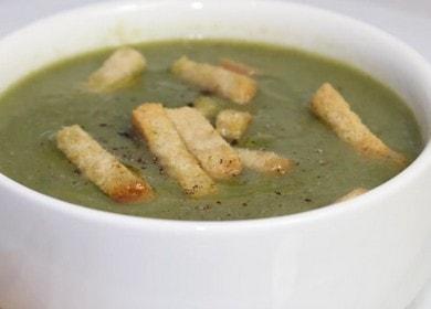 Vaření lahodné polévky se špenátem podle postupného receptu s fotografií.