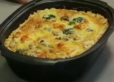 Quiche със сьомга и броколи стъпка по стъпка рецепта със снимка