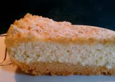 Chutný královský tvarohový koláč v pomalém hrnci podle postupného receptu s fotografií