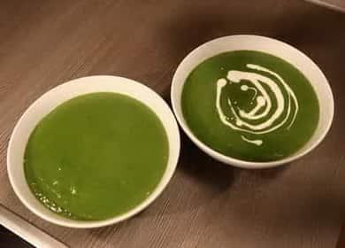 Špenátová krémová polévka podle postupného receptu s fotografií