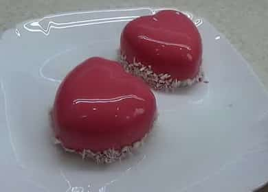 Raspberry Mousse Cake with Mirror Glaze