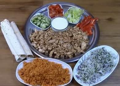 Maso Shawarma: postupný recept s fotografií