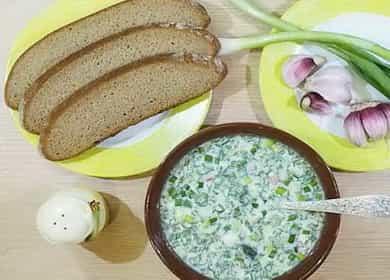 Recept na klasický osvěžující okroshka na kefíru