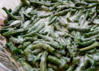 Zelené fazolky - krok za krokem recept na vaření na pánvi