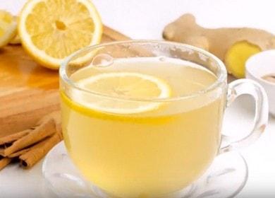 Kořen zázvoru pro hojení čaje: jednoduchý postupný recept s fotografií.