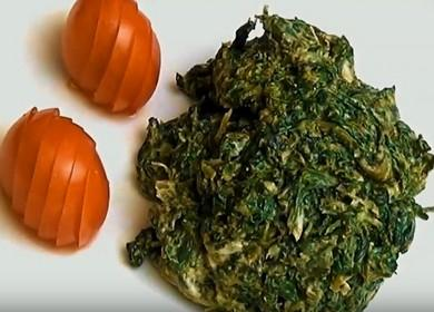 Lahodný recept na přípravu zmrazeného špenátu: vařte s fotografiemi krok za krokem.
