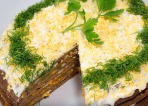 Připravujeme lahodný jaterní koláč z kuřecích jater podle postupného receptu s fotografií.