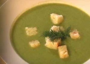 Супа от пюре от броколи и карфиол по стъпка по стъпка рецепта със снимка