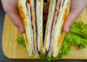 Krok za krokem recept sendviče s fotografií